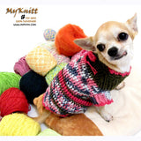 Cute Pink Olive Chihuahua Sweater Home made Crocheted DK859 by Myknitt (1)