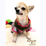 Cute Pink Olive Chihuahua Sweater Home made Crocheted DK859 by Myknitt (2)