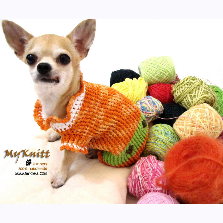 Orange Mint Green Chihuahua Sweater Cotton Puppy Clothes DK860