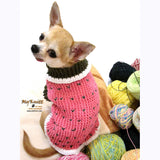 Strawberry Shortcake Crocheted Dog Sweater DK861 by Myknitt (1)