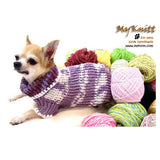 Purple Crocheted Chihuahua Sweater Soft and Warm Cotton Sweater DK864 by Myknitt (2)