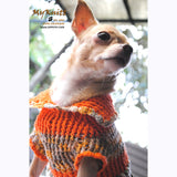 Puffy Orange Olive Knitted Chihuahua Sweater DK868 by Myknitt (1)