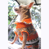 Puffy Orange Olive Knitted Chihuahua Sweater DK868 by Myknitt