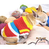 Colorful Diamond Unique Crocheted Dog Sweater DK869 by Myknitt (1)