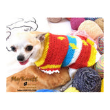 Colorful Diamond Unique Crocheted Dog Sweater DK869 by Myknitt (2)