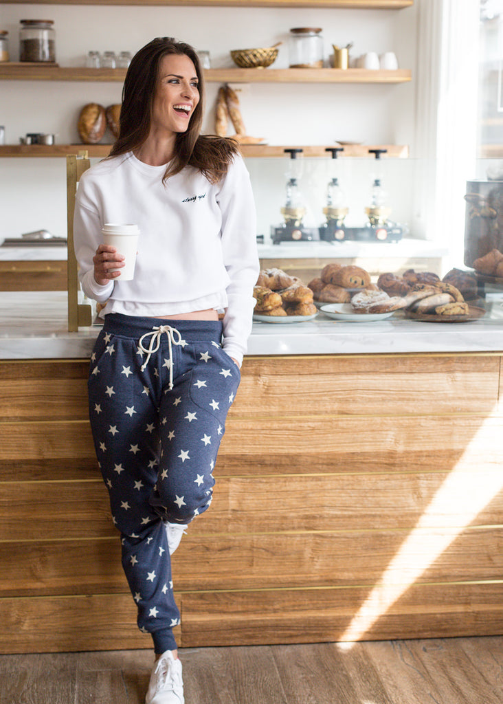 Starry Eyed Cropped Sweatshirt