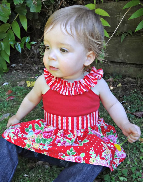 Sale! Luanne Ruffle Neck Knit Dress & Top PDF Sewing Pattern