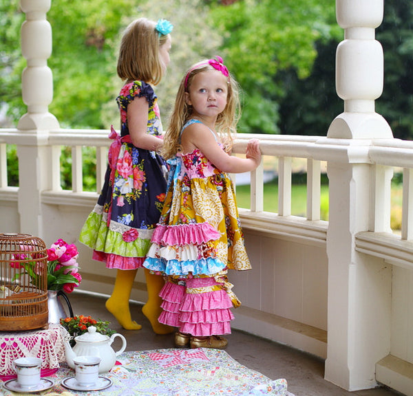 Sale! Chloe Girls Ruffle Back Tunic or Short Dress PDF Sewing Pattern
