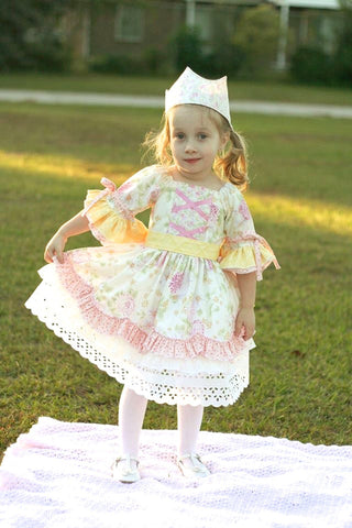 Rose Clarie Victorian Style Girls Dress PDF Sewing Pattern