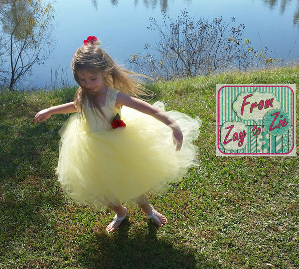 New! Garden Sprite Easy Girls Tutu Dress PDF Sewing Pattern