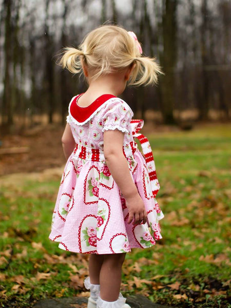 Audrey Retro Style Dress Girls AND Doll PDF Sewing Pattern