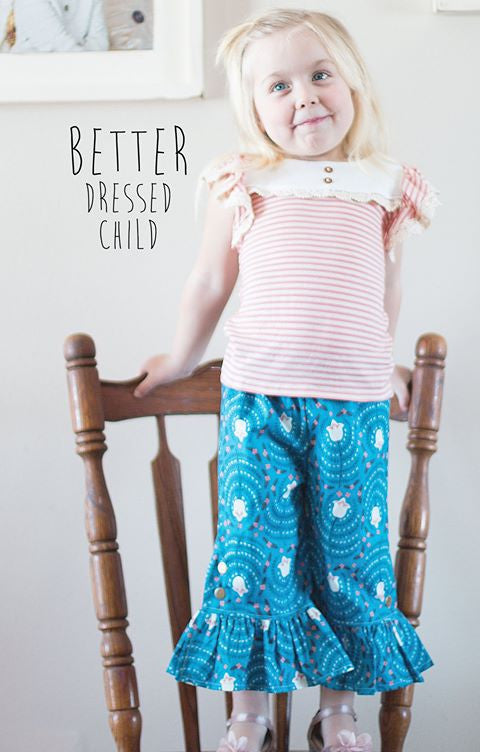 New Camille Stretch Knit Top For Girls Flutter Or Long Sleeves Pdf