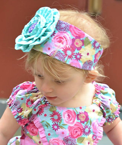 New! Ella Rose Headband and Brooch PDF Sewing Pattern