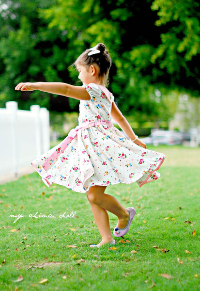 Audrey Retro Style Dress GIRLS Dress PDF Sewing Pattern