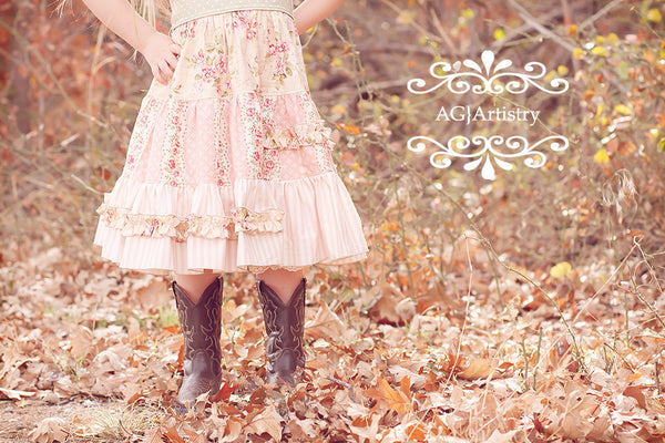 Gypsy Rose Flat Front Peasant Tiered Dress and Top PDF Sewing Pattern