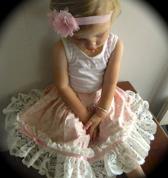 Sale! Pettiskirt Party 3 Girls Skirts Lace Tulle or Ruched PDF Sewing Patttern