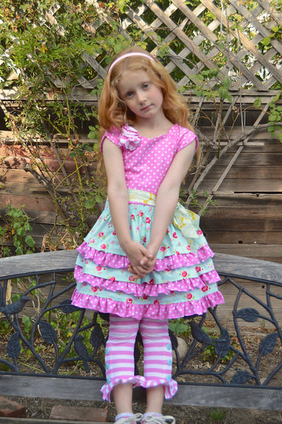 Cute as a Button Girls Leggings PDF Sewing Pattern