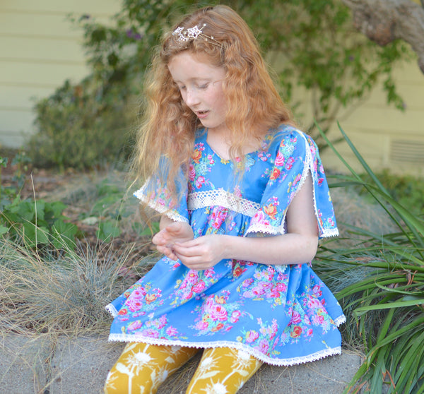 New! Eloise Handkerchief Sleeve Dress/Top & Leggings Set PDF Sewing Pattern
