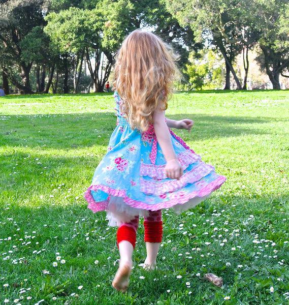 Cherry Strudel Peasant Style Ruffled Dress & Top PDF Sewing Pattern