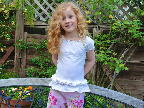 Sale! Flouncy Knit Peasant Top Girls PDF Sewing Pattern