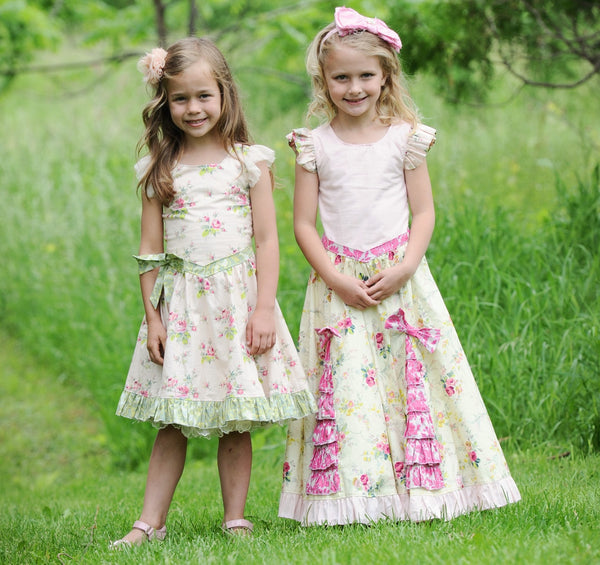 Enchantment Reverse Knot Flutter Dress with Ruffled Godets PDF Sewing Pattern