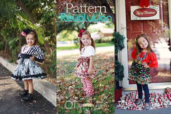 Four Seasons Flat Front Knit Peasant Top and Dress Girls PDF Sewing Pattern
