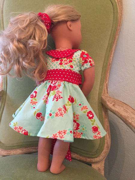 Audrey Retro Style Doll Dress PDF Sewing Pattern
