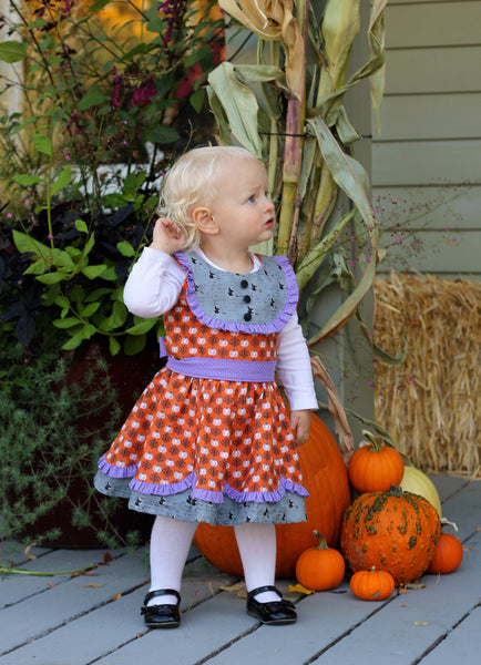 New! Esther Rose Bib/Yoke Dress w Scalloped Skirt Panels PDF Sewing Pattern