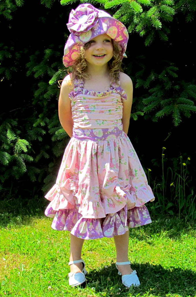 Alexia Ruched Bodice Girls Party and Sun Dress PDF Sewing Pattern ...