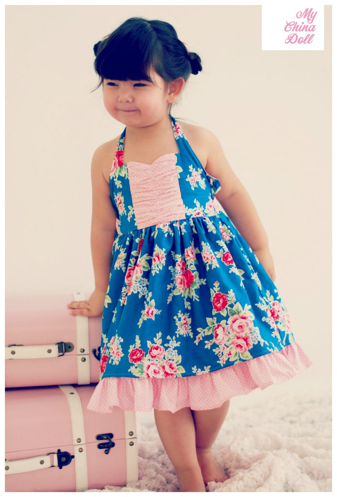 Wild Orchid Ruched Sweetheart Girls Halter Top & Dress PDF Sewing ...