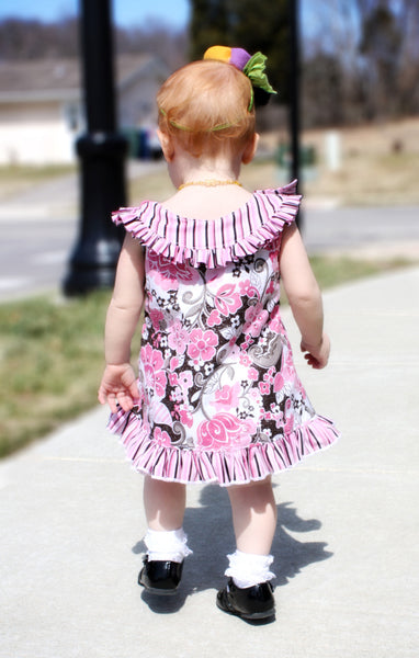 Cassidy Round Yoke A-Line Top or Dress PDF Sewing Pattern
