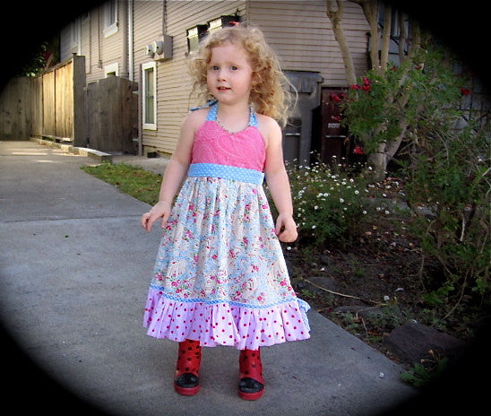 Girls Halter Dress and Double Ruffle PDF Sewing Pattern – Foofoo ...
