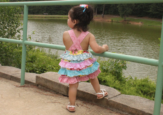 Reversible Ruffle Bum Romper PDF Sewing Pattern