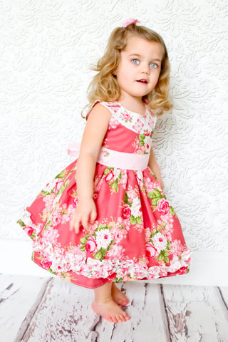 Ruby Sue Retro Round Yoke Dress PDF Sewing Pattern