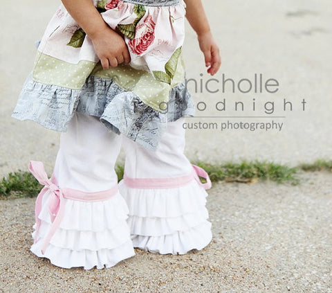 Worlds Cutest Triple Ruffle Capri Pants Girls PDF Sewing Patterns
