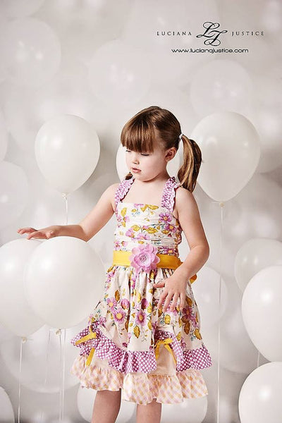Alexia Ruched Bodice Girls Party and Sun Dress PDF Sewing Pattern
