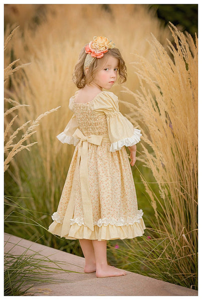 Josephine Flat Front Peasant Apron Dress Girls PDF Sewing Pattern
