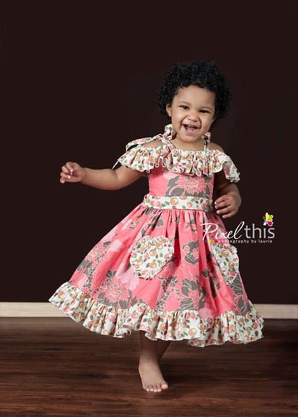 Sale! Maggie's First Crush Girls Ruffled Bodice Dress PDF Sewing Pattern