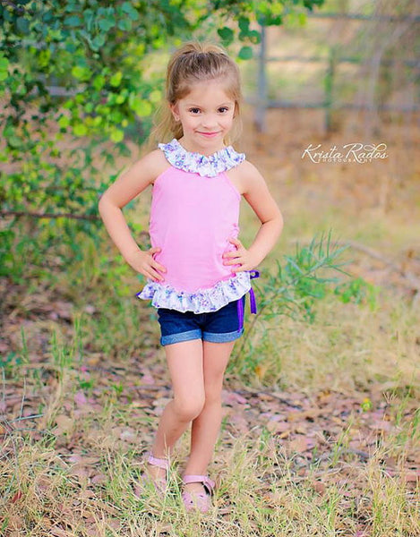 Sale! Cricket Knit Ruched Girls Top PDF Sewing Pattern