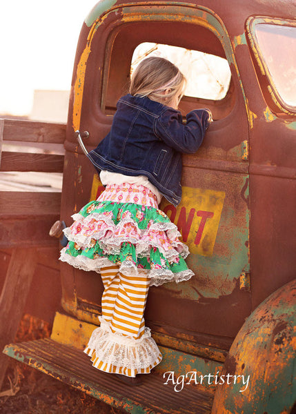 Angelina Ruffled Tutu Skirt Girls PDF Sewing Patttern