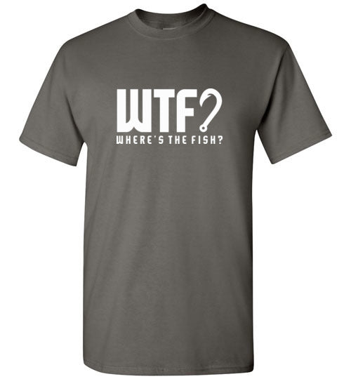 Bad Tuna T-shirt Co. WTF? SHORT  SLEEVE T-SHIRT badtuna