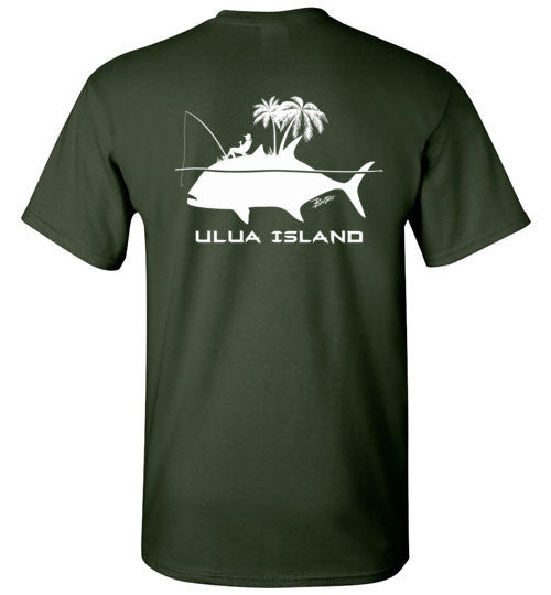 Bad Tuna T-shirt Co. ULUA ISLAND T-SHIRT Gildan Basic Tee 5.3 oz badtuna
