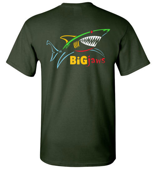 Bad Tuna T-shirt Co. BIG JAWS SHARK T-SHIRT Gildan Basic Tee 5.3 oz badtuna