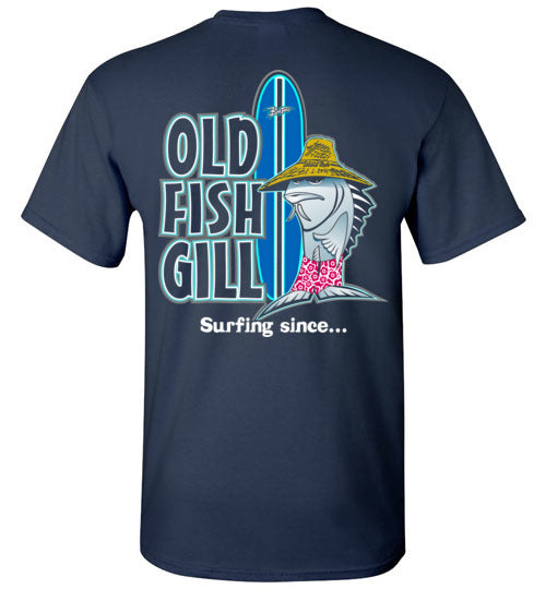 Bad Tuna T-shirt Co. OLD FISH GILL SURFING T-SHIRT AND TANK TOP badtuna