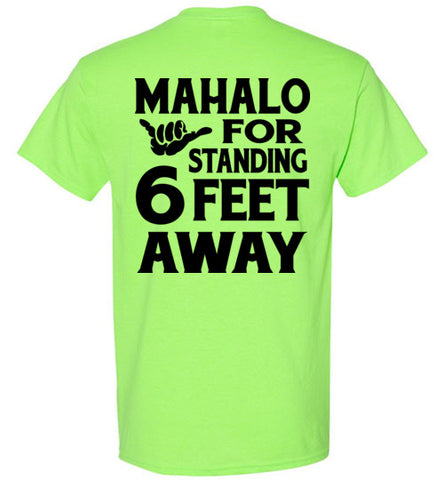 COVID 19 BRIGHT COLOR MAHALO AWARNESS, HI-50 T-SHIRT