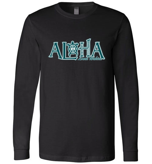 Bad Tuna T-shirt Co. LOCAL WAHINE ALOHA HONU LONG SLEEVE T-SHIRT local wahine