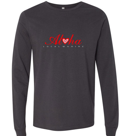Bad Tuna T-shirt Co. LOCAL WAHINE HEART OF ALOHA LONG SLEEVE T-SHIRT local wahine