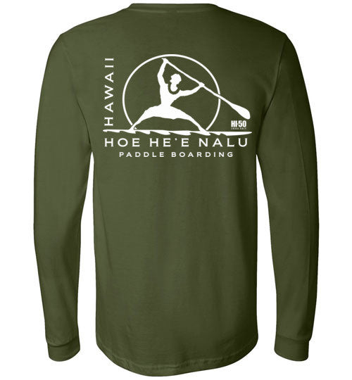 Bad Tuna T-shirt Co. HI-50 LOCAL SALT HOE HE'E NALU SUP LONG SLEEVE T-SHIRT hi-50 local salt