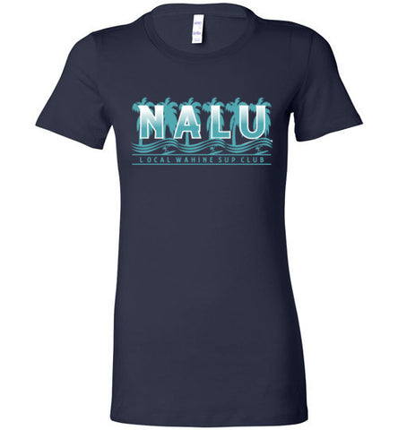 Bad Tuna T-shirt Co. NALU LOCAL WAHINE SUP CLUB T-SHIRT local wahine