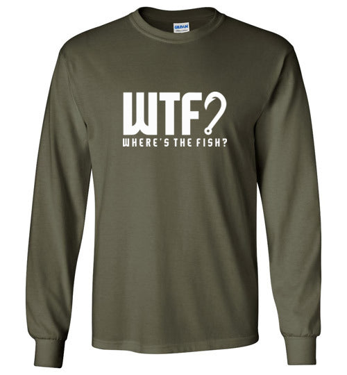 Bad Tuna T-shirt Co. WTF? LONG SLEEVE T-SHIRT badtuna